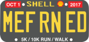 MEF RN ED License Plate